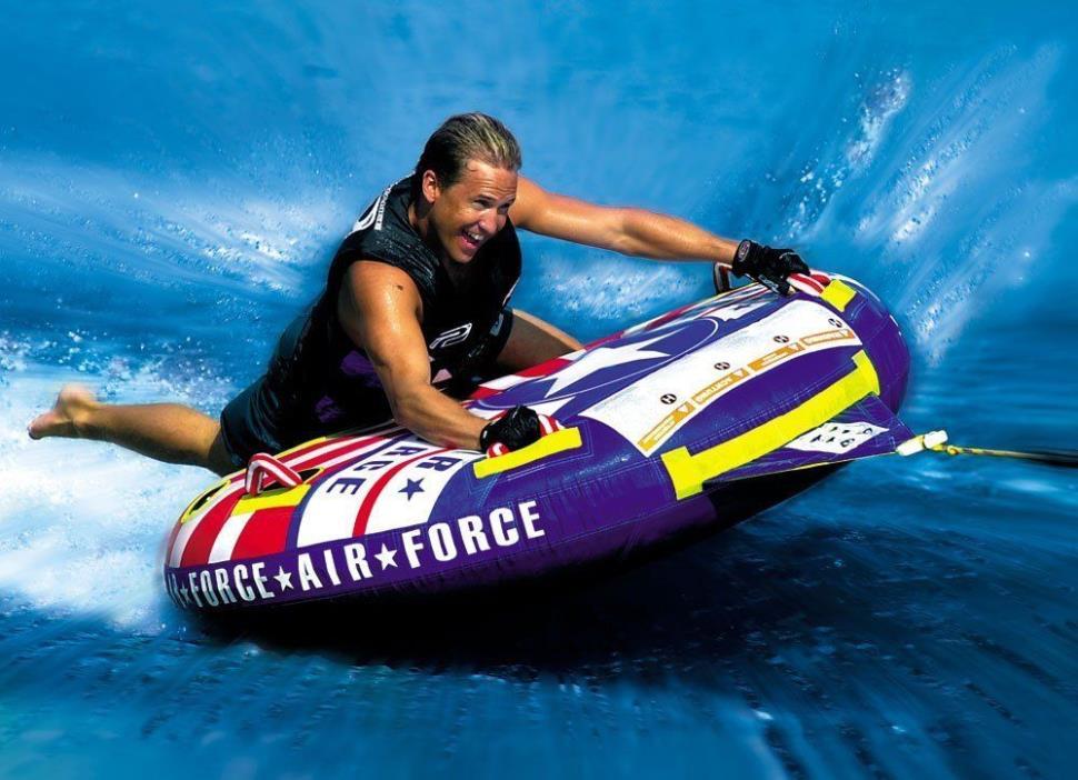Water Ski Tube Towable Watersports Rider Summer Single Lake Sea Comfortable Kids