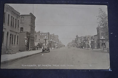 RPPC Minnesota Street North, New Ulm, Minnesota Postcard