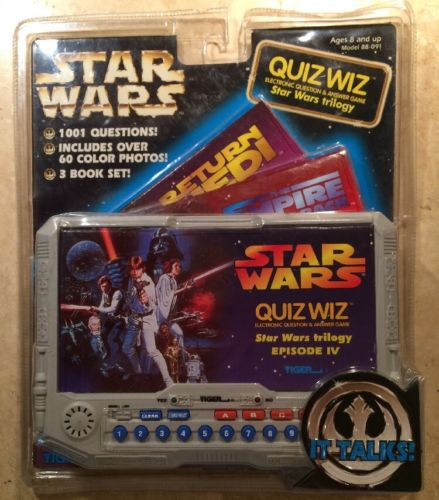 1997 Tiger Electronics Quiz Wiz STAR WARS Electronic Question Game Toy 8+ New