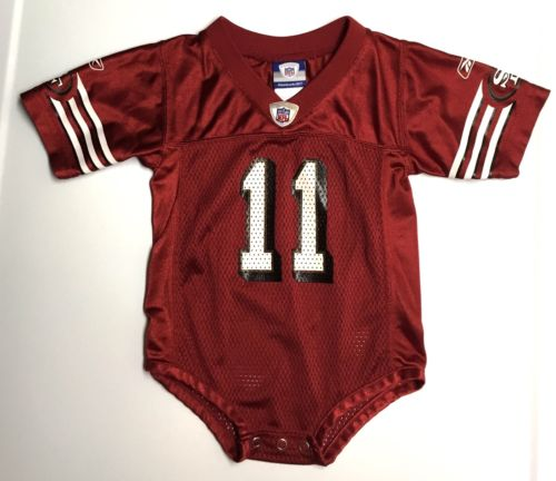 Reebok NFL 18M Boy San Francisco SF 49ers Alex Smith 11 Football Jersey Bodysuit