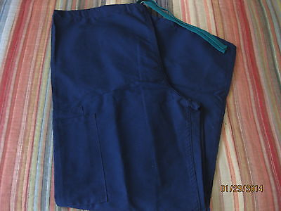 MEDLINE WOMEN'S NURSING SCRUB PANTS BLUE MEDIUM
