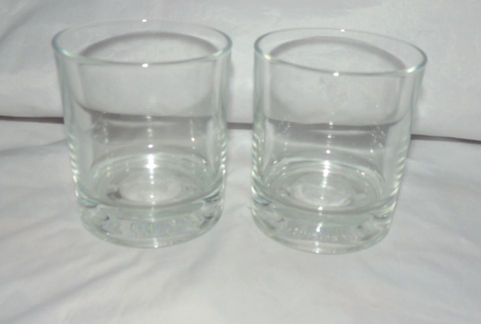 LOT 2 UNUSED CROWN ROYAL COMMEMORATIVE ITALY WHISKEY DRINK GLASS GLASSES 3.5