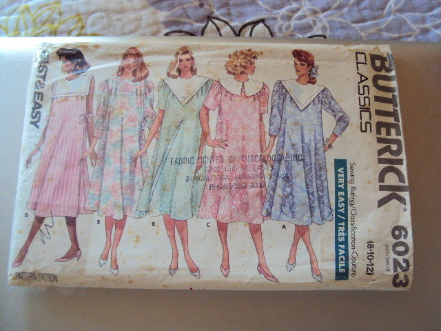Butterick Maternity Dress  Pattern 6023 UNCUT 8-12  Vintage Free Shipping