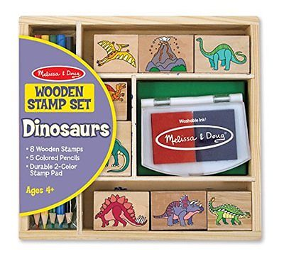 Wooden Stamp Set, Dinosaur, Ages 4+, Kid Activity Tool