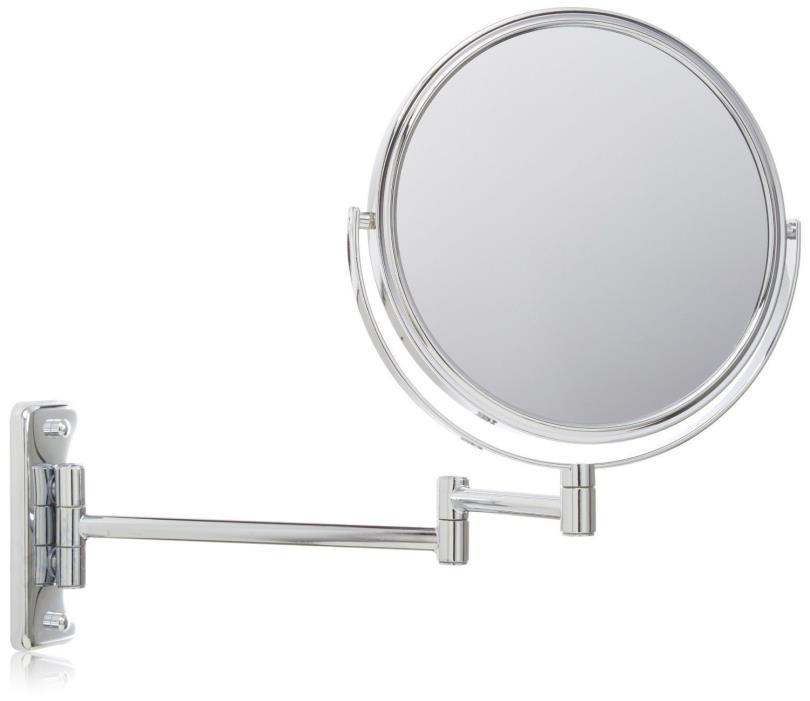 JERDON  8-Inch Wall Mount Makeup Mirror - 5X Mag - Chrome