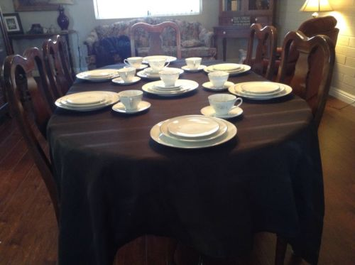 FANCY DISHES: Noritake Altadena:white china complete place setting for 8