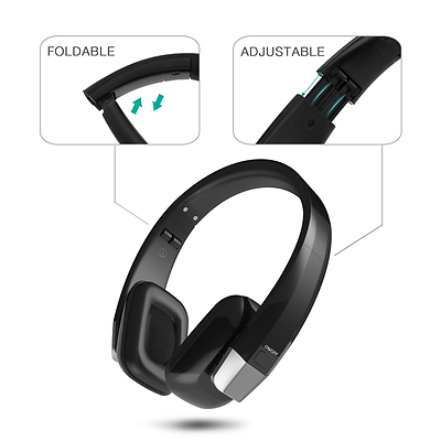 Wireless Headphones for TV Jelly Comb Over-Ear Folding Rechargeable Headphone