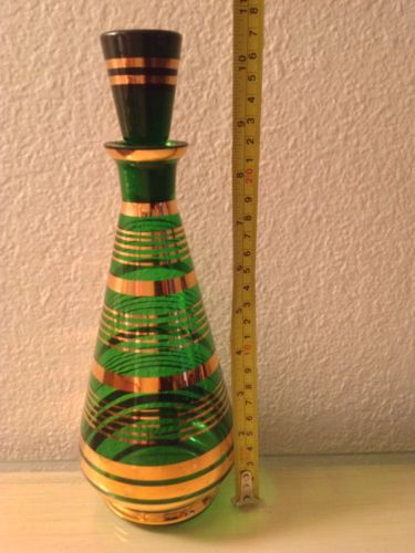 glass bottler deco Green and Gold