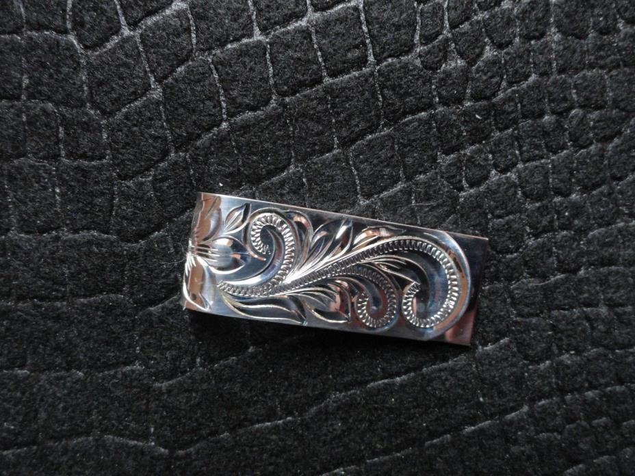 Sterling Silver Hawaiian Heritage Scrolls 18mm  Money Clip