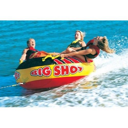 Inflatable Water Towable 4-Person Nonslip Handles Ski Tube Boat Sea Safe Durable