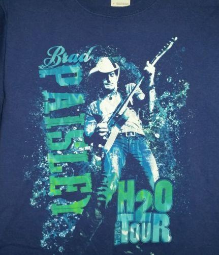 Brad Paisley H 2 O Tour t-shirt small 100% pre-shrunk cotton. B7.