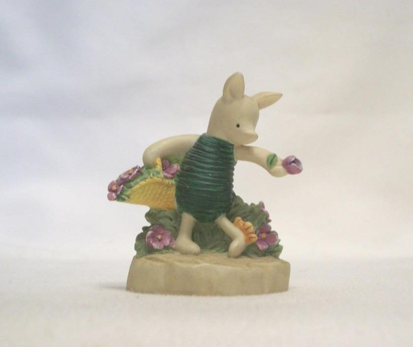 Lenox Disney Winnie the Pooh Thimble – PIGLET WITH CATERPILLAR