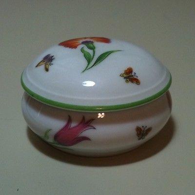 Tiffany & Co. Limoges France Tiffany Garden Trinket Box 2.25