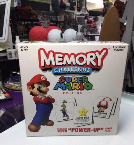 2011 Nintendo Super Mario Edition Memory Challenge Board Game *COMPLETE