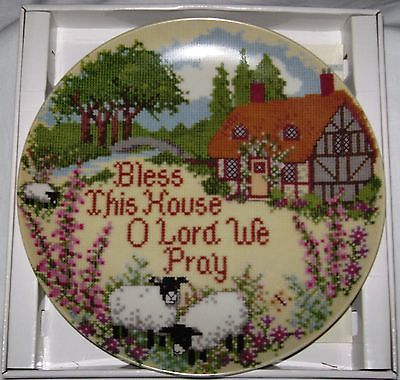 Bless This House Collector's Plate Creative Circle NIB + Certif of Authenticity