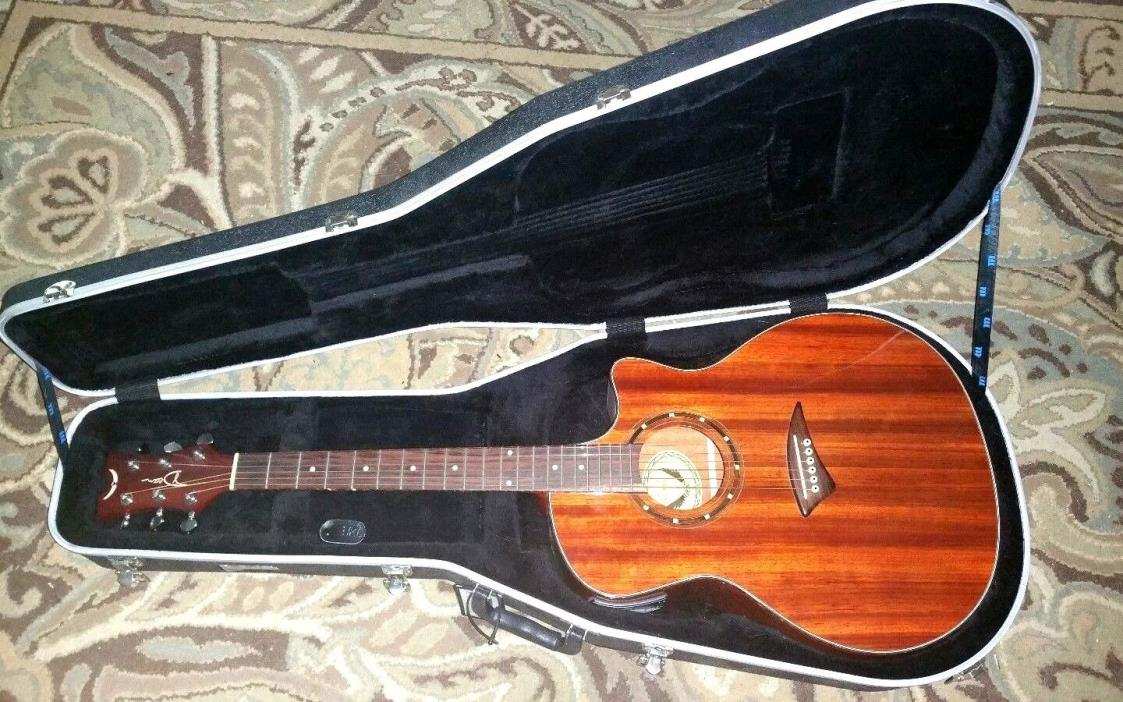 DEAN Exotica EPADUK Wood ACOUSTIC ELECTRIC Guitar Solid Beauty w/ CASE
