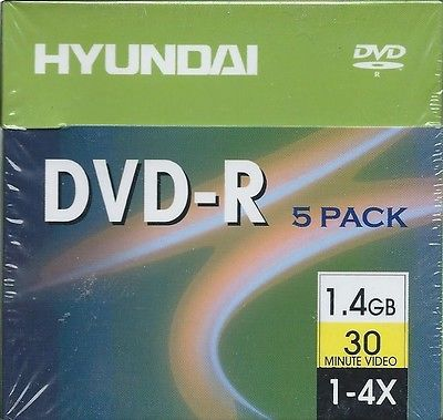 HYUNDAI DVD+R 5 Pack 30 Minute Mini's