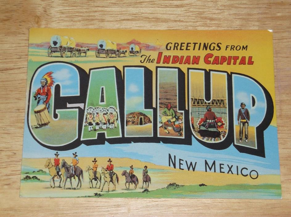 GREETINGS FROM GALLUP NEW MEXICO POSTCARD