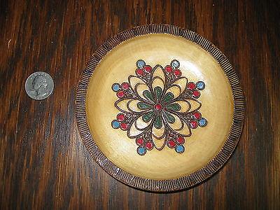 Vintage Polish Carved Wood Wall Plate -  Poland  - Art - 5
