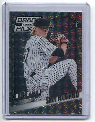 2014 Prizm Perennial Draft Picks PRIZMS BLACK FINITE Sam Howard 1/1 Rockies