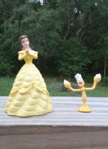 Disney Beauty and the Beast Belle and candlestick PVC Figures Cake Toppers