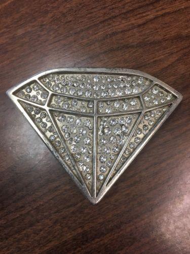 Men Belt Buckle Cowboy Western Big Bling Metal Diamond Silver Rhinestones #17