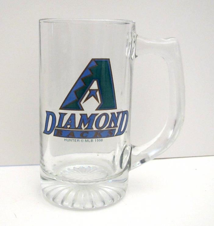 1998 Inaugural Arizona Diamondback Glass Stein Mug