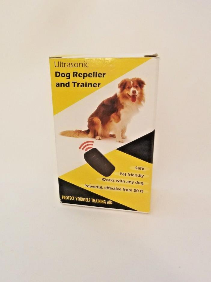 Electronic Ultrasonic Dog Trainer,Repellent, Bark Stopper w Flashlight PestZilla