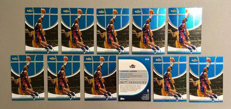 (x11) 2005-06 TOPPS Finest LEBRON JAMES lot/set #85 3rd Year Beautiful Mint Cavs