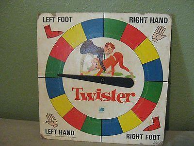 Vintage 1966 Milton Bradley Twister Spinner Board Only
