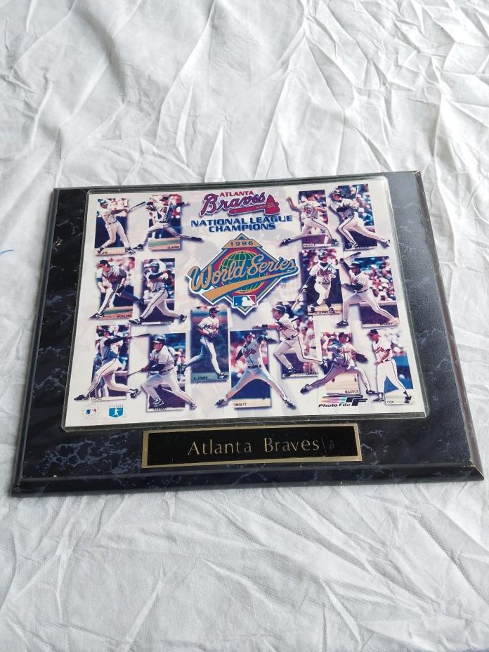 1996 Atlanta Braves National League Champion Plaque