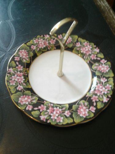 Royal Albert Provincal Flowers Mayflower Handled Candy Dish 1975