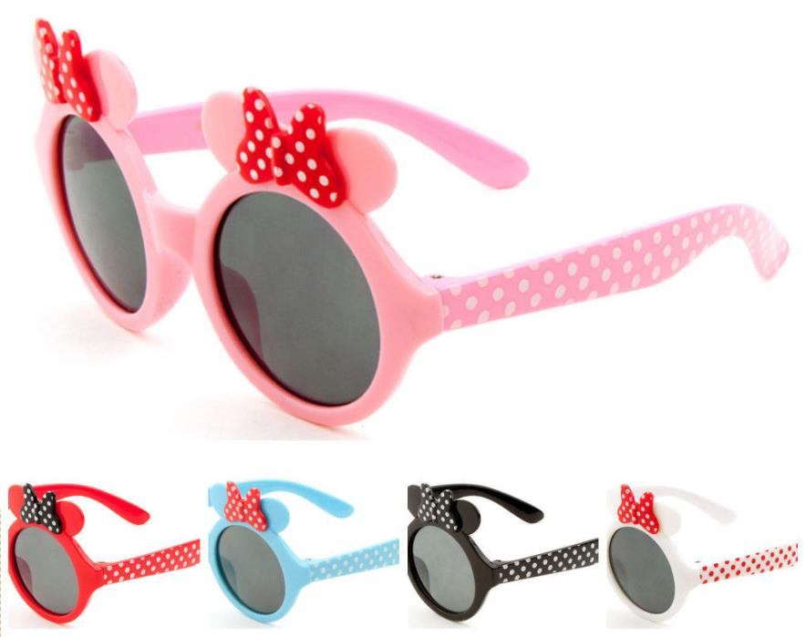 Wholesale 12 Pairs Kids Party Sunglasses Polka Dot & Bow Sunglasses