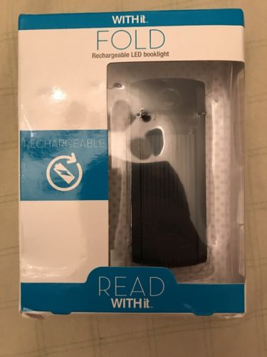 NEW Fold Light by WITHit - Black - 3 LED Rechargeable Reading Light