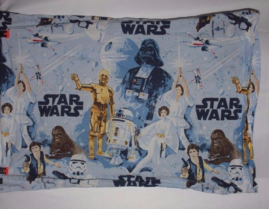 Pottery Barn Kids Star Wars Flat Sheet and Pillow Case Size Queen
