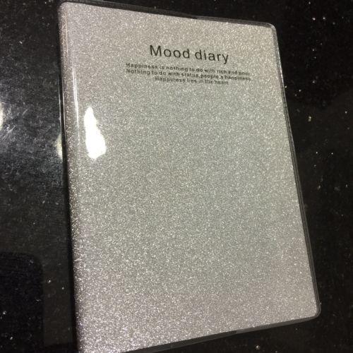 Silver Glittering Mood Diary Mini Scrapbook W Lines Date  Book 4
