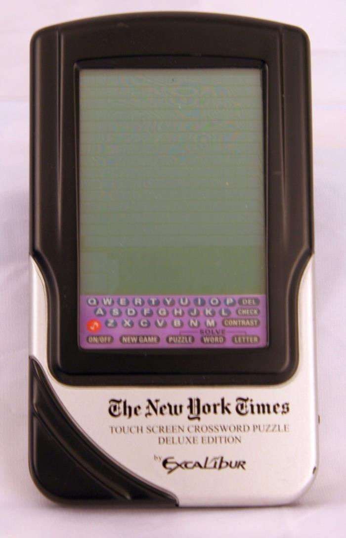 The New York Times Touch Screen Crossword Puzzle Electronic Game