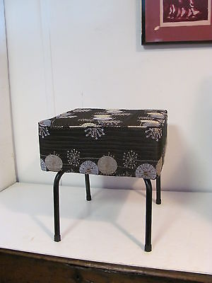 Dramatic Mid Century Modern Box ottoman With Metal Splay Legs