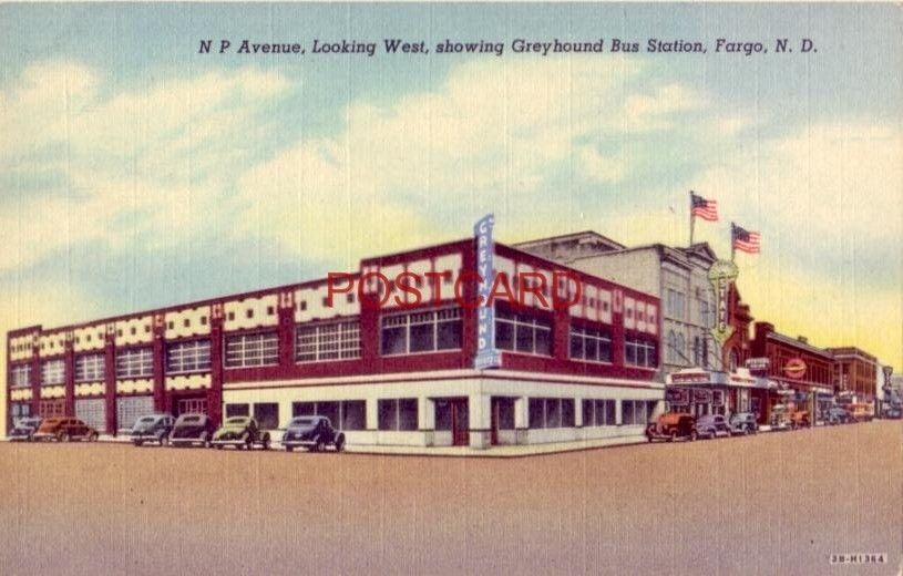 N P AVENUE, FARGO, N.D. SHOWING GREYHOUND STATION