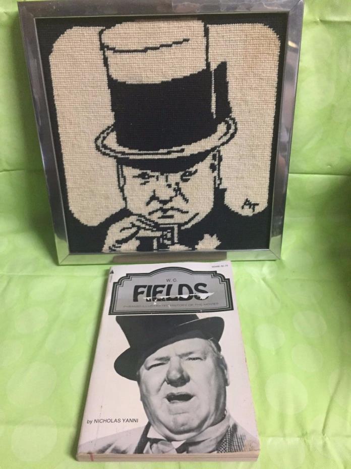 W C Fields Paperback M3486 and Vintage Framed 10 x 10 Artwork. (set)