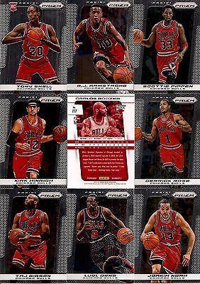 2013-14 Panini Prizm Chicago Bulls Complete Team Set w/ HRX (12)