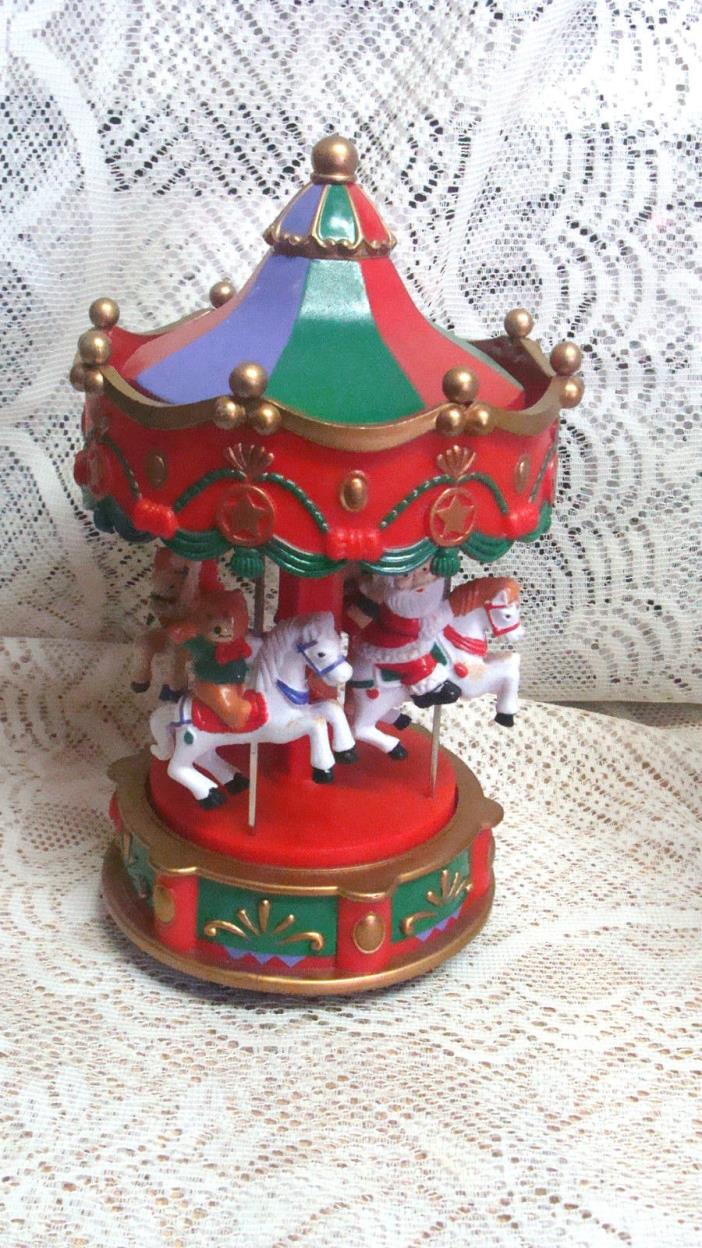 Electronic Carousel W/Lights And 12 Christmas Melodies original packaging, Works