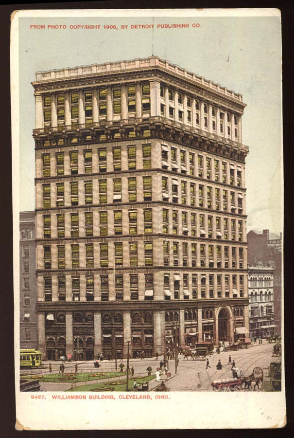 CLEVELAND OHIO Williamson Building Public Square OH Postcard 1905