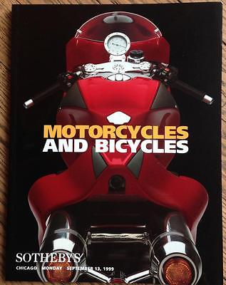 Sotheby's Motorcycles Bicycles Auction Catalog 1999 Ducati MH900e proto foldout~
