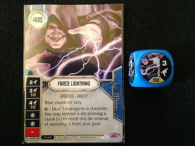Force Lightning (SoR) - Star Wars Destiny Singles - Near Mint Card and Die