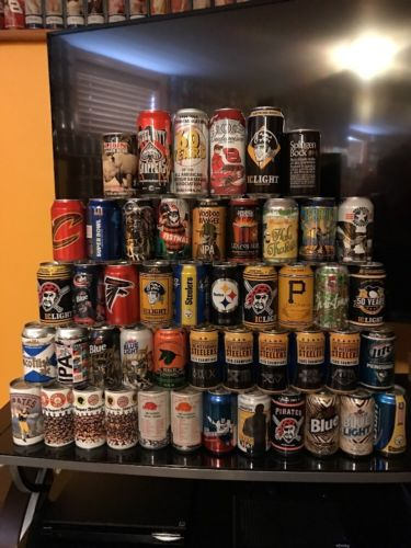 Lot of 48 Different Beer Cans *Iron City, Bud Light, Pittsburgh Cans and More*