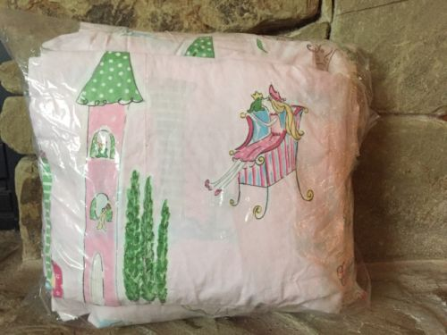 RARE! 2 PC POTTERY BARN KIDS PINK GRACE FULL SHEET SET PRINCESS AND THE PEA FROG