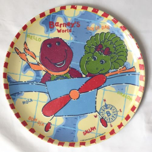 ZAK Designs Barneys World Childrens Dinner Plate Baby Bop Melamine 1999 Dinosaur