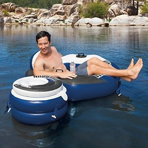Inflatable Water Chair Pool Floating Cooler Outdoor Seat Beach Summer Lounge New