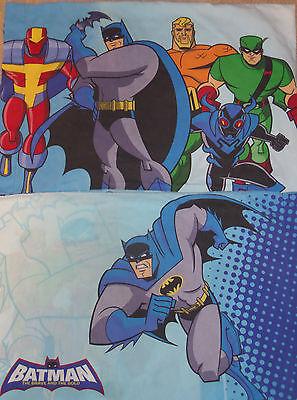 Batman Pillowcase Brave and The Bold Lot of 2 Aquaman Justice League Green Arrow